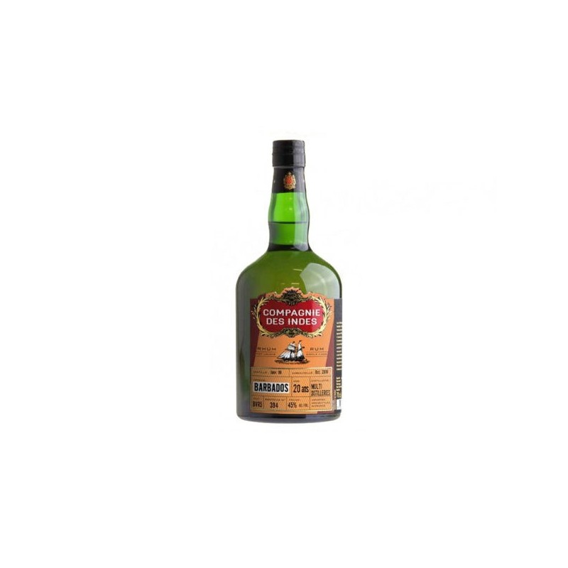 SINGLE CASK RHUM VIEUX LA BARBADE MULTI-DISTILLERIES 20 ANS COMPAGNIE DES INDES - 1