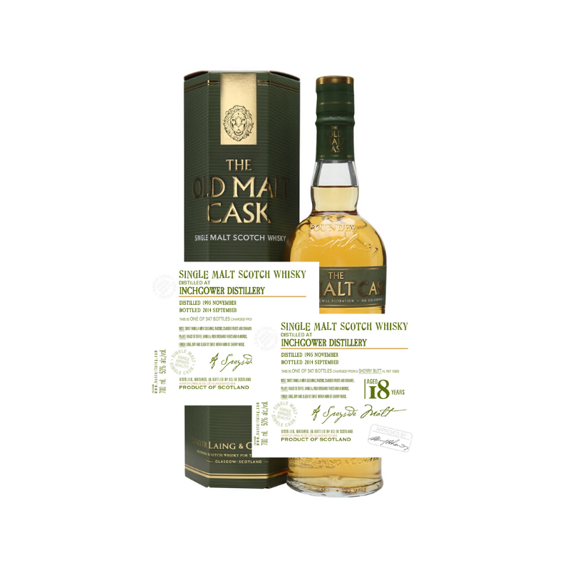 SINGLE CASK SINGLE MALT SCOTCH WHISKY - INCHGOWER 18 ANS OLD MALT CASK - 1