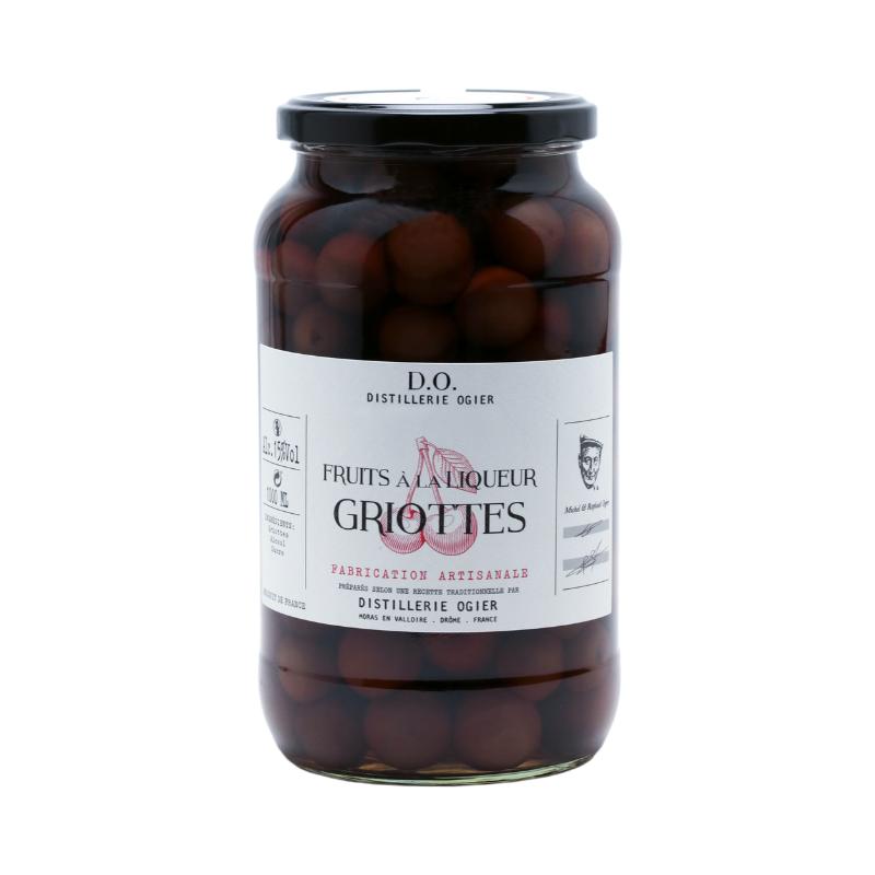 FRUITS À LA LIQUEUR - GRIOTTES - 1000ML DISTILLERIE OGIER - 1