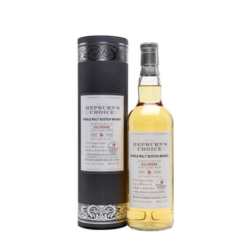 SINGLE CASK SINGLE MALT SCOTCH WHISKY - AULTMORE 6 ANS HEPBURN'S CHOICE - 1