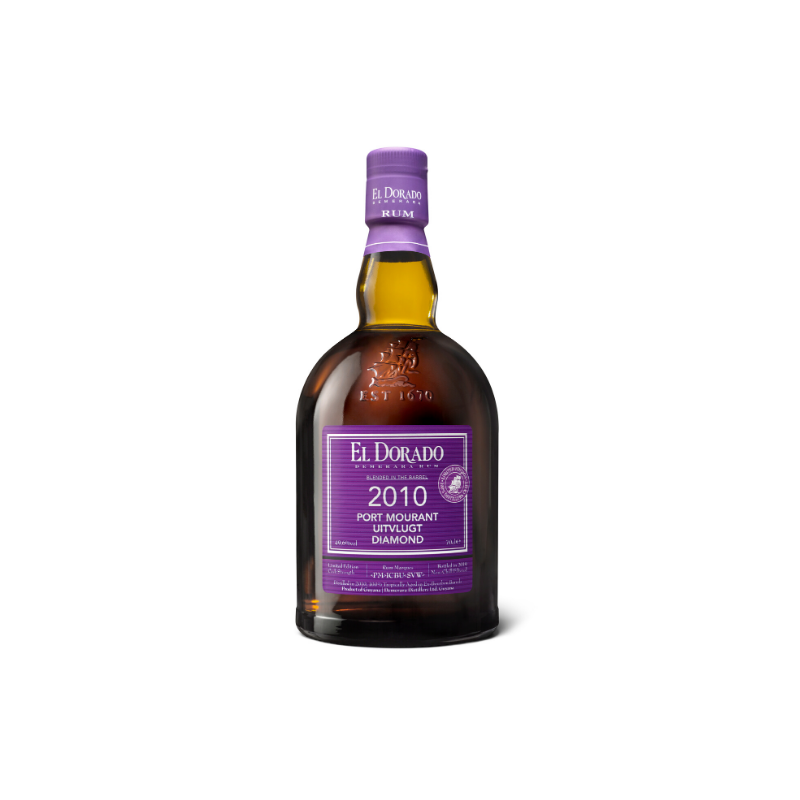 RHUM VIEUX - PORT MOURANT, UITVLUGT & DIAMOND 2010  - BLENDED IN THE BARREL  - 1